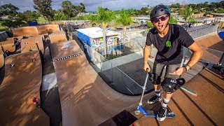 $1 THRIFT SHOP SCOOTER VS MEGA RAMP!