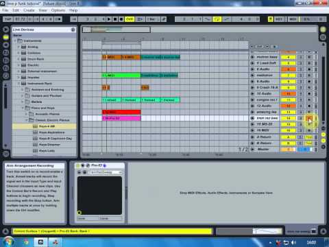 Ableton Live8 How to produce Jazz Funk P Funk Soul Hip Hop Tutorial video