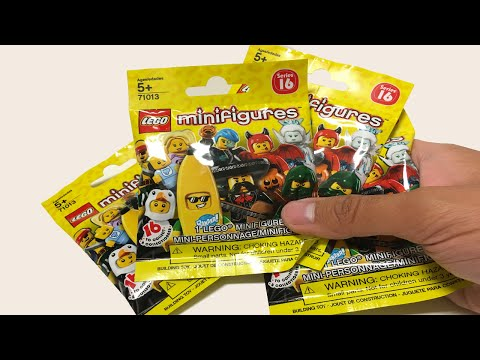 LEGO Minifigures Series 16 - Opening 4 packs!