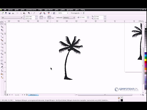 Corel DRAW X4 Tutorial: Wektorowa palma