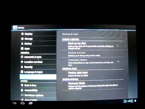 How to factory reset an Android tablet - Yammer Jammer