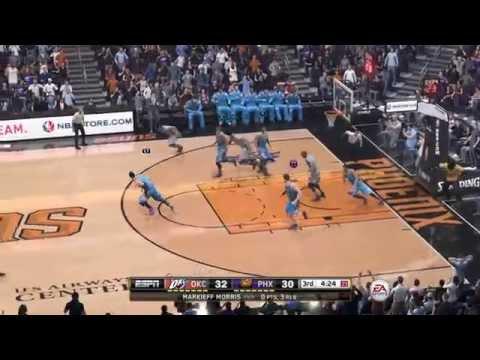 NBA 2015 - Oklahoma City Thunder vs Phoenix Suns - 3rd Qrt - NBA LIVE 15 PS4 - HD