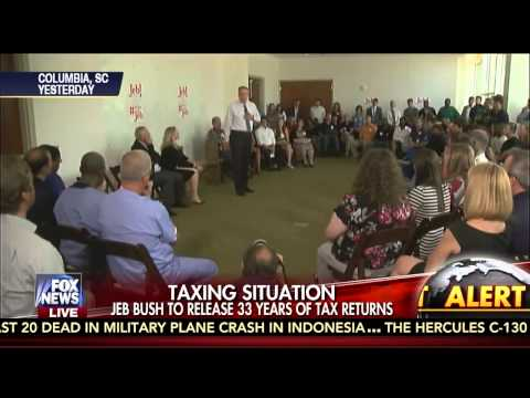 Carl Cameron Reports Gov. Jeb Bush to Release 33 Years of Tax Returns