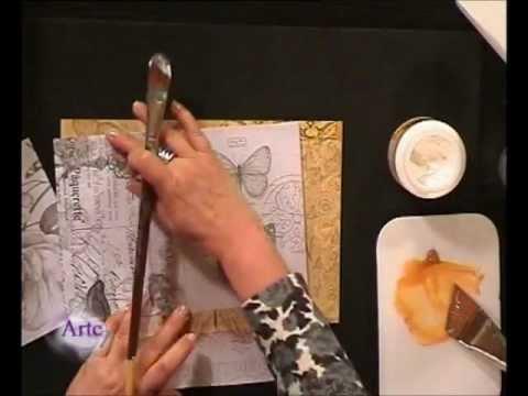 C mo decorar con collage en telas y l minas una caja y un - Como forrar una caja con tela ...