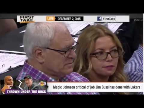 ESPN First Take   Magic Johnson criticizes Lakers' Jim Buss