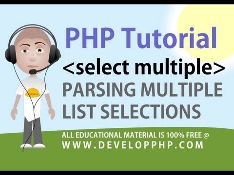 PHP Tutorial Parse Multiple Select HTML Form Fields - DevelopPHP dot com