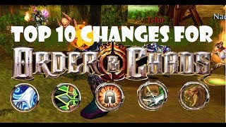 Top 10 Changes for Order and Chaos Online!