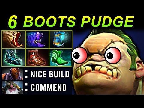 6 BOOTS PUDGE - DOTA 2 PATCH 7.07 NEW META PRO GAMEPLAY