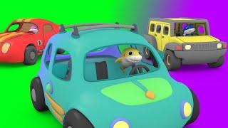 Baby Shark Driving Cars | Shark Family Nursery Rhymes for Children | Cars Cartoon