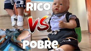RICO VS POBRE  11 COM BEBÊ REBORN NA ESCOLA  - GABI REBORN