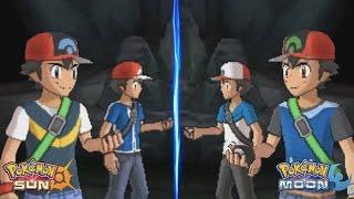 Pokemon Sun and Moon: Kalos Ash and Sinnoh Ash Vs Unova Ash and Hoenn Ash