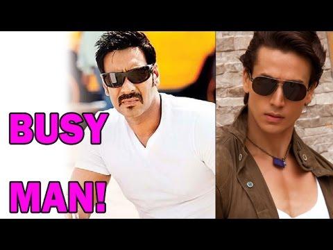 Tiger Shroff calls Ajay Devgan a Busy Man! | Bollywood News