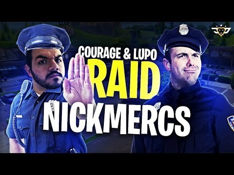 COURAGE AND LUPO RAID NICK MERCS?! DRUNK STREAM! (Fortnite: Battle Royale)