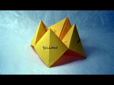 origami fortune teller instructions wwworigamifuncom