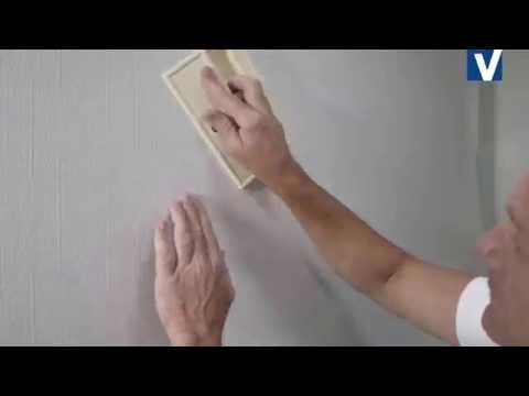 Поклейка на стену звукопоглощающих покрытий Витрулан Акустик Vitrulan Acouatic