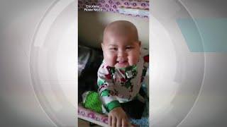 Emilie Meza, 1, celebrates 100-day mark after bone marrow transplant from her father
