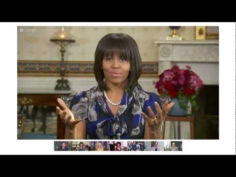First Lady Michelle Obama s Fireside Google+ Hangout On Air Highlights