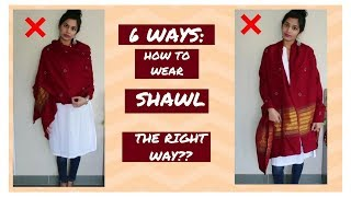 6 Ways: How To Wear Shawl The Right Way & Handsfree