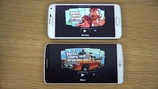 GTA San Andreas LG G3 vs Samsung Galaxy S5 4K Gaming Comparison Review