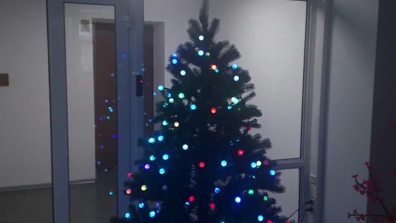 Новогодняя гирлянда в видео