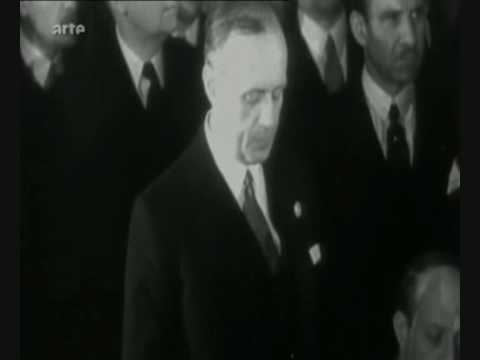 Von Ribbentrop & Georges Bonnet - Accord franco-allemand du 6 décembre 1938 - Pathé-Journal