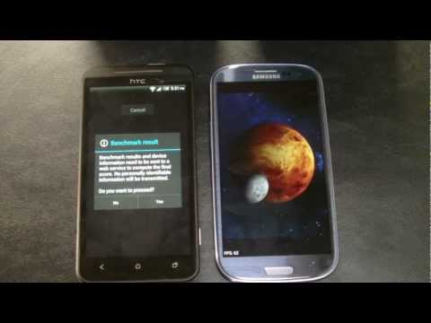 HTC Evo vs Samsung Galaxy S3 Tests