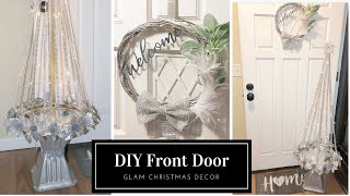 DIY FRONT DOOR GLAM CHRISTMAS DECOR 2018   COLLAB WITH MEASURE & MIX
