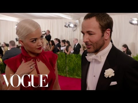 Tom Ford and Rita Ora at the Met Gala 2015 | China: Through the Looking Glass