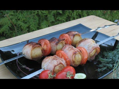 Шашлык из картошки. Картошка на мангале.