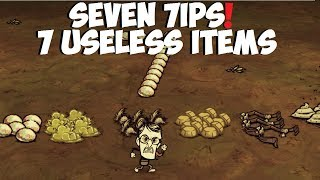 Don't Starve Together → 7 Useless Items (Seven 7ips)