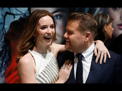 James Corden and Emily Blunt reunite on red carpet for Into the Woods premiere