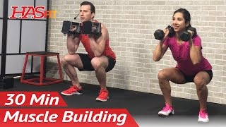 30 Min Home Leg Workout with Dumbbells for Women & Men - Bodybuilding Legs Workout at Home Exercises