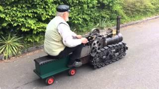 Hornsby chain crawler / kettentraktor erstes mal unter Dampf
