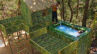 Survival Builder: Building The Greatness Bath Pool On Beautiful Bamboo House