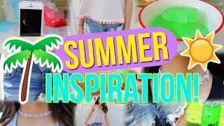 SUMMER INSPIRATION!! DIY Clothes, Speaker & More!!