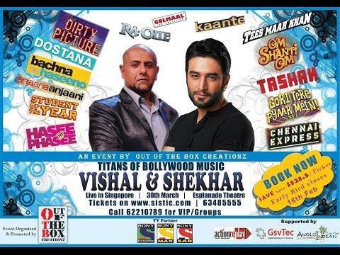Vishal Shekhar Live In Singapore 30th March 2014 At Esplanade Theatre