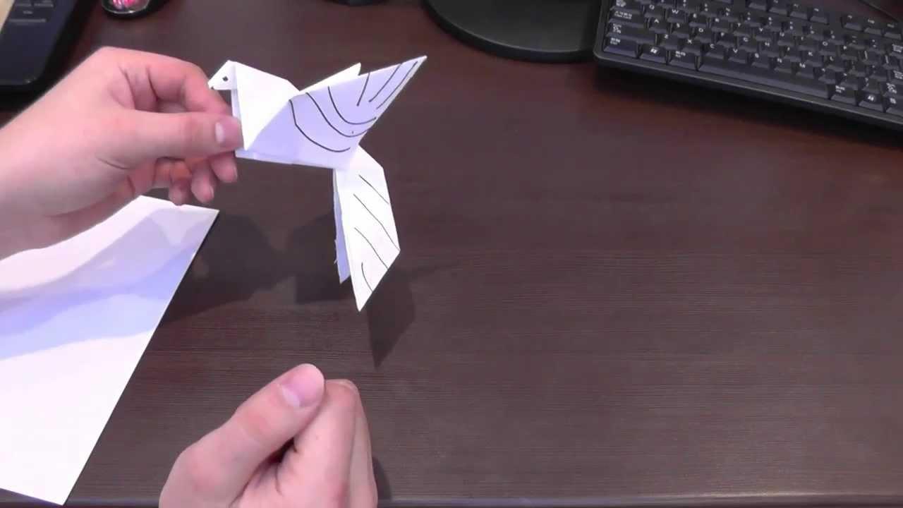 Птица из листа бумаги своими руками 41