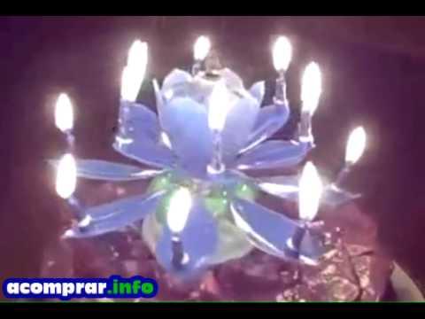 Vela Feliz Cumpleaños animada rosa demostración (HappyBirthday candle)