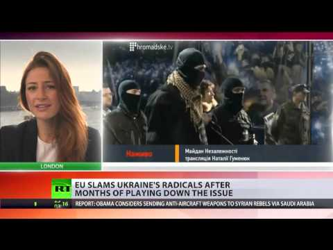 'Against democratic principles': EU slams Ukraine's radical Right Sector