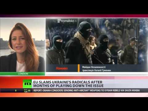 'Against democratic principles': EU slams Ukraine's radical Right Sector