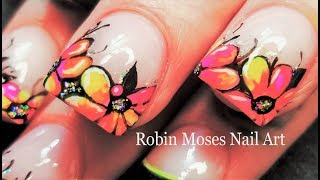 Neon Nails Daisies pt. 2 ! | Spring 2018 Nail Art Design Tutorial