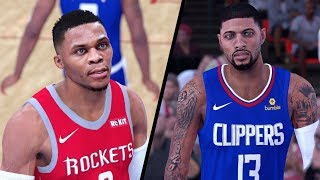 NBA 2K19 - Los Angeles Clippers vs Houston Rockets - Full Gameplay (Updated Rosters)