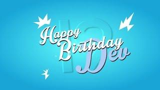 »it's only || HAPPY BIRTHDAY DEV!!!