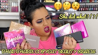 NEW BHAD BHABIE + COPYCAT BEAUTY MAKEUP REVIEW!