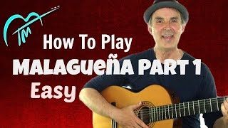 Easy Malagueña For Guitar Tutorial (For Beginners)  Part 1