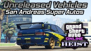 GTA Online Diamond Casino Heist: Unreleased SA Super Autos Vehicles Gameplay and Customization