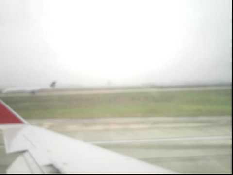 Landing at the Houston International Airport