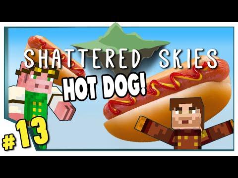 Minecraft: Shattered Skies - #13 - Hot Dog! (FTB Skyblock)