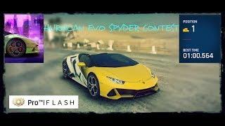 ASPHALT 9 : Lamborghini Huracan Evo SPYDER Contest (TLE)(1.00.564) -ANCIENT WONDERS  Fastest Route!!