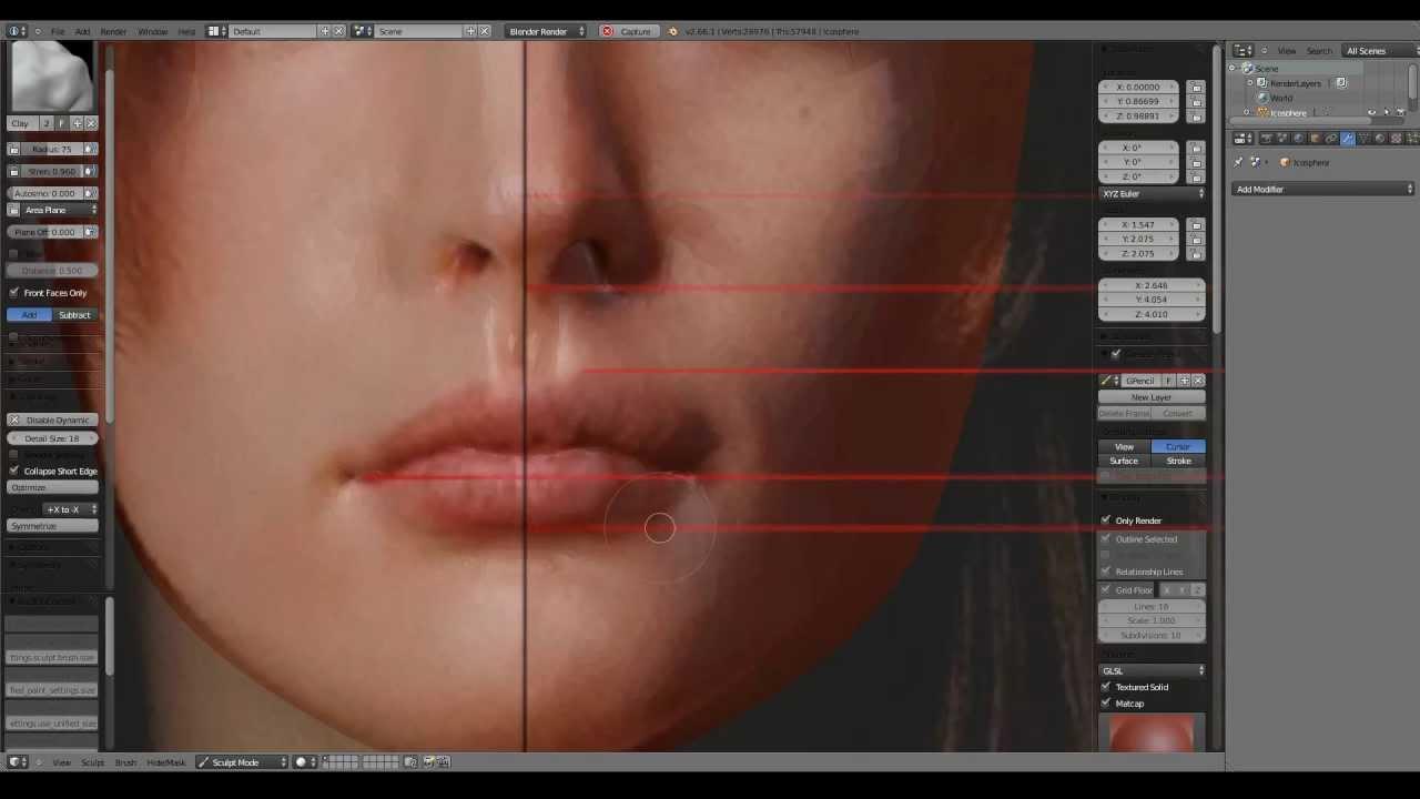 Speed Sculpting Liv Tyler Head In Blender 3d Part1 3